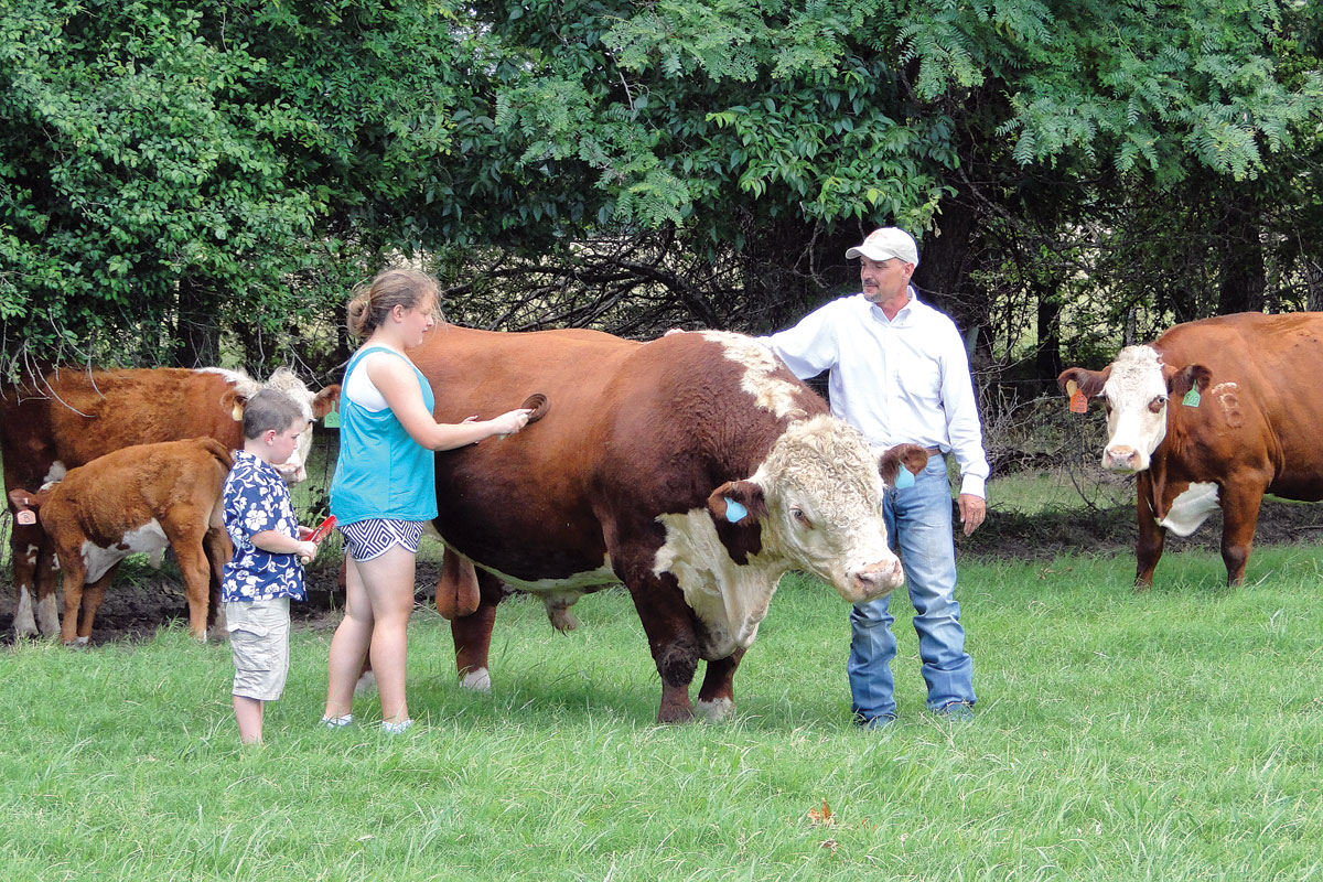 Despite Off The Farm Jobs Matt And Erica Boyer Manage A Thriving Registered Hereford Operation